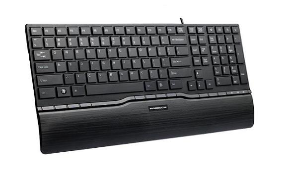 Modecom MC-9005 drátová multimediální klávesnice, nízkoprofilová, CZ, USB, černá