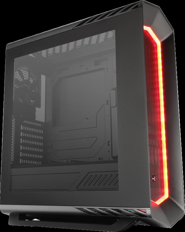 PC skříň Aerocool ATX P7 C1 BLACK STANDARD, USB 3.0, bez zdroje