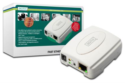 Digitus Fast Ethernet USB Print Server