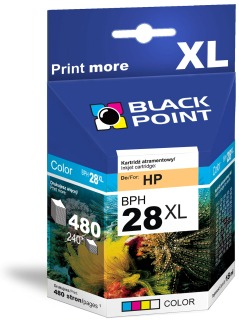 Ink Black Point BPH28XL   Color   18 ml   480 p.   HP C8728