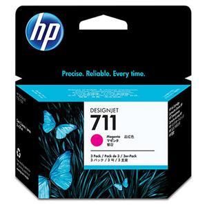 HP CZ135A No. 711 Magenta Ink Cart pro DSJ T120, trojbalení 3x29ml