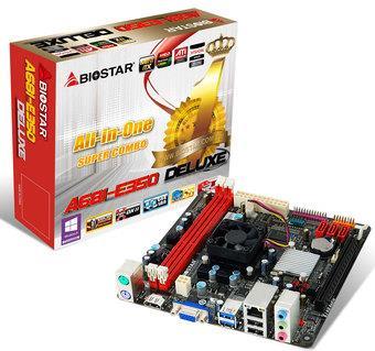 Biostar A68I-350 DELUXE, BGA FT1, DDR3 1066/800, MiniITX, 2 x USB 3.0