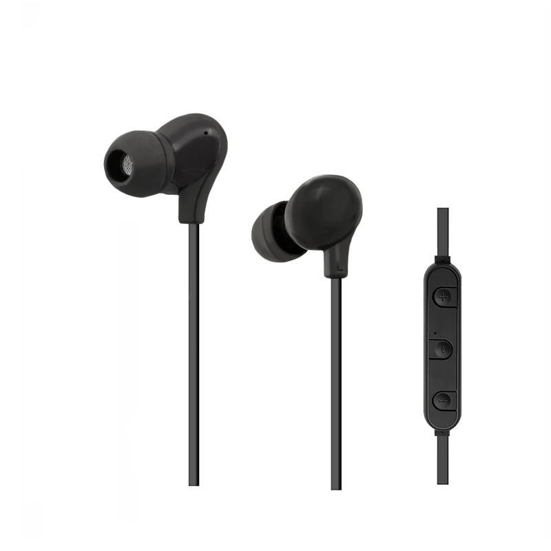 Qoltec Bluetooth bezdrátová sluchátka, 1,2m, černý