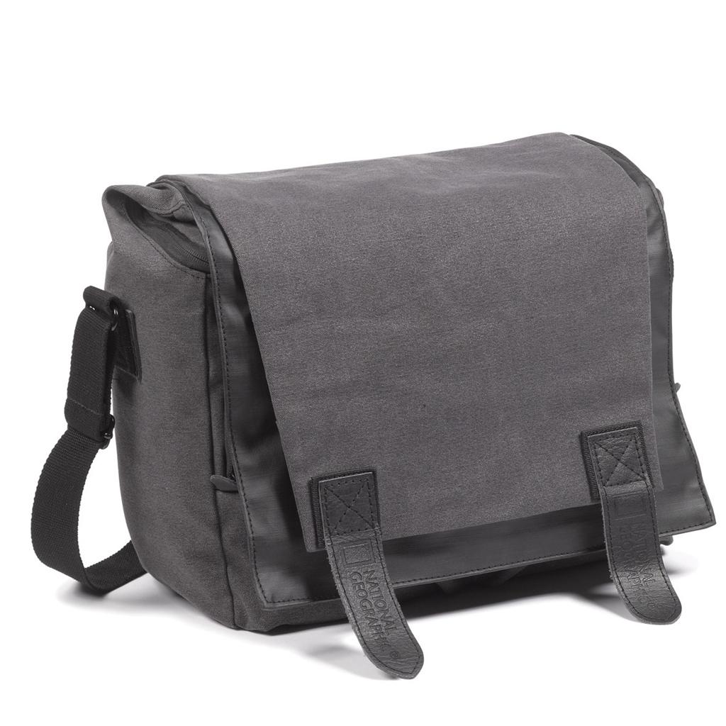 National Geographic W2161 medium satchel, střední brašna tm. Šedá