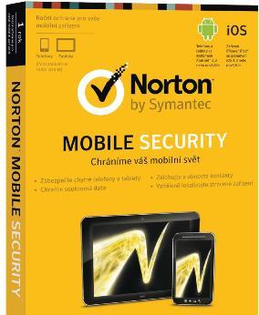 NORTON MOBILE SECURITY 3.0 CZ 1 uživatel na 12 měsíců - elektronicky