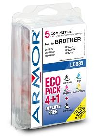 ARMOR cartridge pro BROTHER DCP-J125, 2BK+1C+1M+1Y