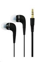 PLUS stereo sluchátka K2500, 3,5 mm jack, černá