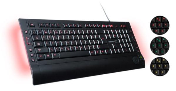 CONNECT IT LED podsvícená klávesnice 3 barvy, USB