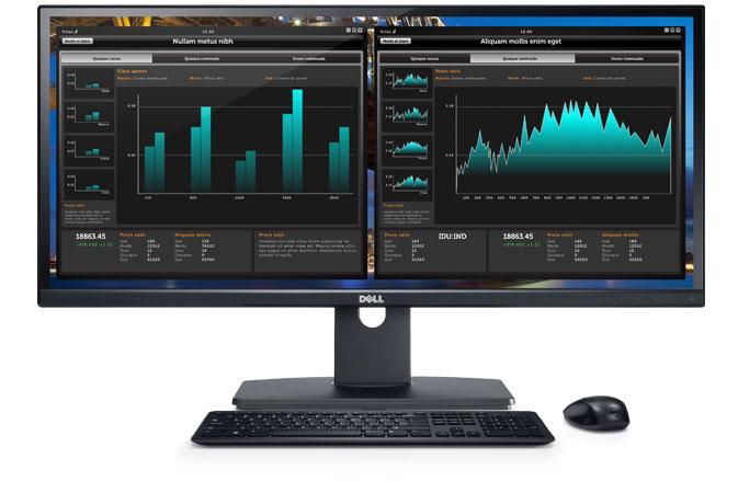 """Dell UltraSharp U2913WM 29"""" (2560x1080)/21:9/8ms/1000:1/DVI/HDMI/DP/USB/IPS panel/cerny"""