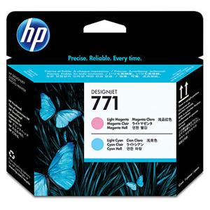HP 771 Light Magenta + Light Cyan DJ Printhead, CE019A