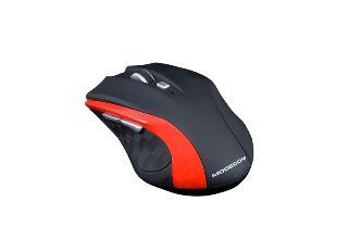 Modecom MC-WM5 bezdrátová optická myš, 5 tlačítek, USB nano 2,4 GHz, DPI přepínač, černo-červená