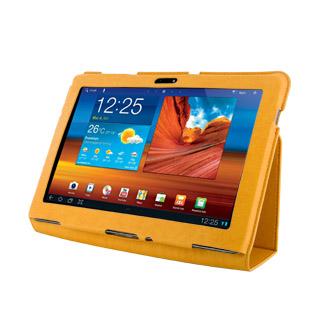 4World Pouzdro - stojan pro Galaxy Tab 10.1, slim, oranžový