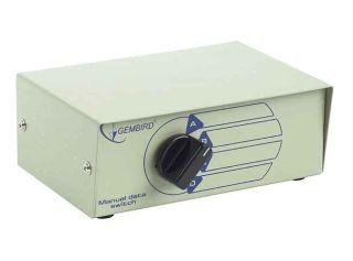 Gembird Data switch manuálni, USB pro 4 zařízení