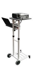 2x3 MASTER stolek pod projektor a notebook - pojízdný, nastavitelná výška