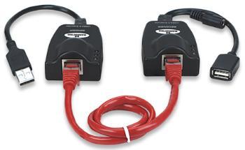 Manhattan Prodlužovací adapér USB 2.0 pro UTP kabel do 100m
