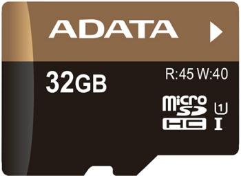 ADATA Micro SDHC karta 32GB UHS-I U1 + SD adaptér (R:45MB / W: 40MB)