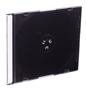 Esperanza Plastové krabičky slim 5,2mm na CD/DVD | 200 ks, černé