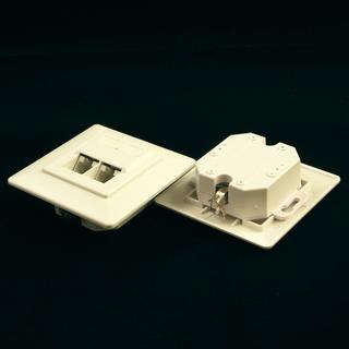 Netrack zásuvka kompletní pod omítku 2xRJ45 8p8c UTP Cat5e LSA