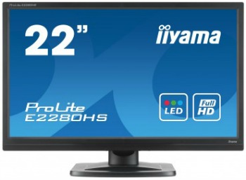 Iiyama LCD-LED E2280HS-B1 21.5'' FHD, 5ms, DC5mil:1,DVI, HDMI, repro, č.