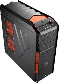 PC skříň Aerocool X-PREDATOR X1 Evil, 2xUSB 3.0, černá (bez zdroje)
