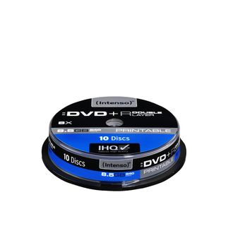 DVD+R DL DoubleLayer Print Intenso [ cakebox 10 | 8,5GB | 8x ]