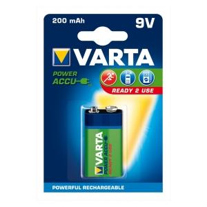 Akumulátory VARTA Hi-voltage 9V 200 mAh 1ks ready 2 use