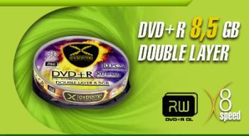 Extreme DVD+R Double Layer [ cake box 10   8.5 GB   8x ]