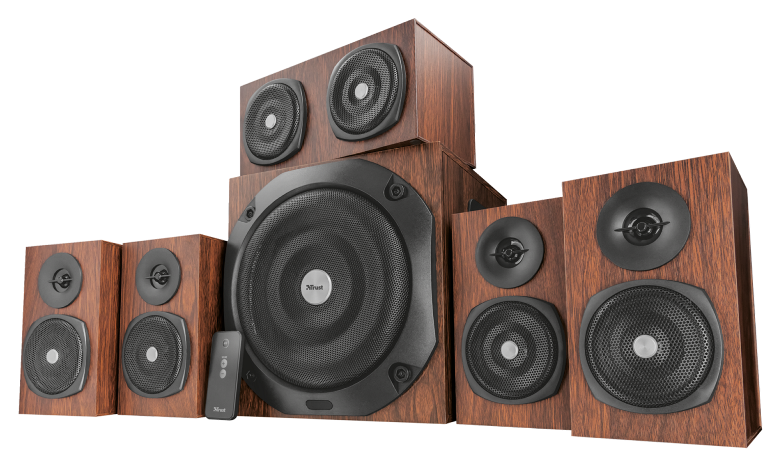 zvuk. systém TRUST Vigor 5.1 Surround Speaker System for pc - brown