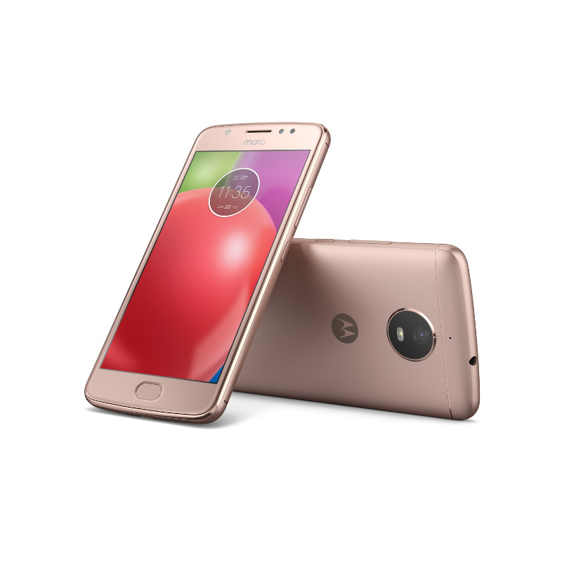 "Motorola Moto E Dual SIM/5"" IPS/1280x720/Quad-Core/1,3GHz/2GB/16GB/8Mpx/LTE/Android 7.1.1/Blush Gold"