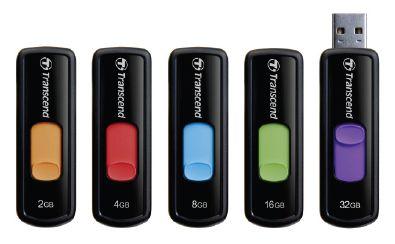 Transcend 4GB JetFlash 500, USB 2.0 flash disk, černo/červený