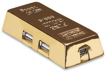 MANHATTAN USB 2.0 hub Gold Bar, 4 porty