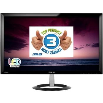 Asus LCD-LED VX238H 23'' wide FHD, 1ms, DC 80mil:1, DVI, 2xHDMI, 250cd/m2, č.