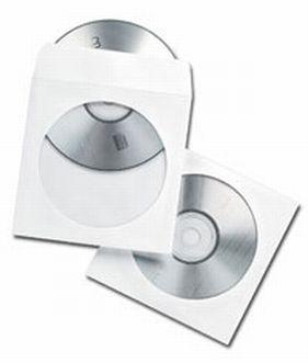 Gembird Obálka na CD/DVD s okénkem, papírová, 100 ks