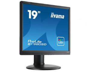 "19"" LCD iiyama Prolite B1980SD-B1 - 5ms,250cd/m2,1000:1,5:4,VGA,DVI,repro,pivot,výšk.nastav.,černý"