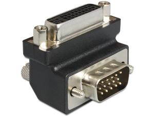 Delock adaptér DVI 24+5 pin samice > VGA 15 pin samec, uhlový 270°