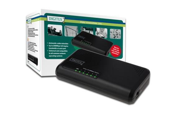 Digitus Fast Ethernet Switch N-Way 5 Port