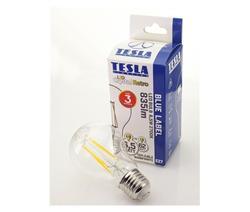 Tesla LED žárovka CRYSTAL RETRO BULB E27, 6,5W, 230V, 835lm, 25 000h, 2700K teplá bílá, 360°,čirá