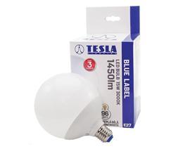 Tesla LED žárovka GLOBE E27, 15W, 230V, 1450lm, 30 000 hod, 3000K teplá bílá, 300°