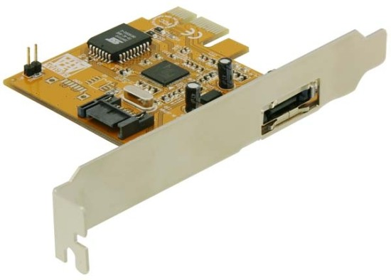 Delock PCIe řadič eSATA dvoukanálový interní/externí RAID