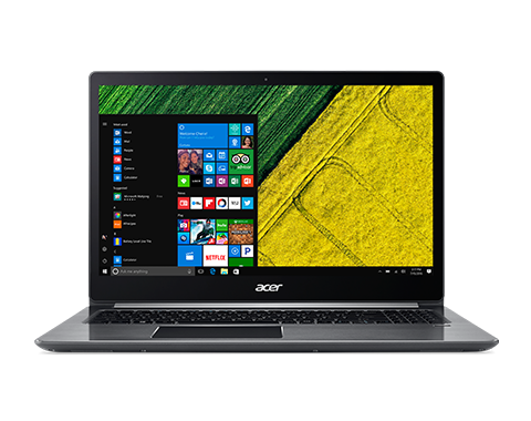 "Acer Swift 3 (SF315-51G-808S) i7-8550U/16GB+N/A/256GB PCIe SSD+1TB/MX150 with 2 GB/15.6"" FHD IPS/BT/W10 Home/Gray"