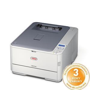 OKI C321dn, A4, 24/22 ppm, ProQ2400 dpi, 128MB RAM, PCL+PS, USB 2.0 + LAN, duplex