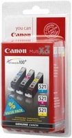 Canon BJ CARTRIDGE pack CLI-521 C/M/Y BLISTER SEC
