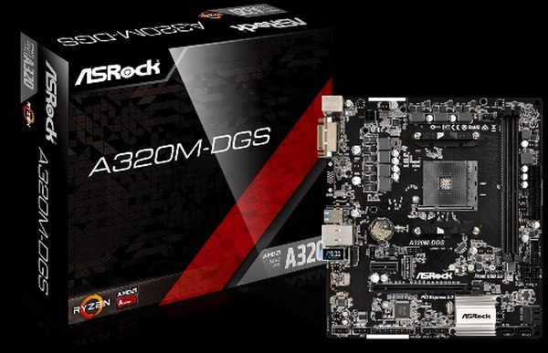 ASRock A320M-DGS, AM4, 4xSATA3, DDR4, USB 3.0