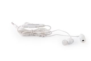 Modecom sluchátka do uší s mikrofonem MC-140 (bílá)
