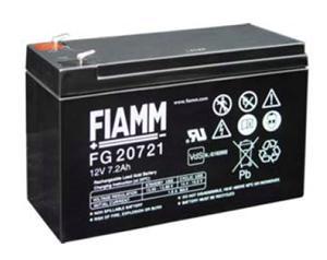Fiamm olověná baterie FG20721 12V/7,2Ah Faston 4,8