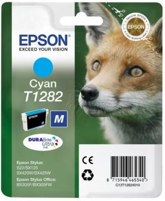 Inkoust Epson T1282 cyan | Stylus S22/SX125/SX425W/BX305F