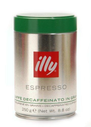 Káva Illy zrnková bez kofeinu 250 g zelené víčko