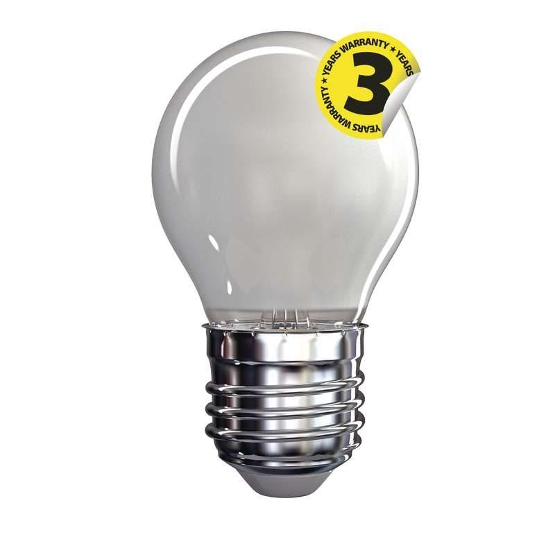 Emos LED žárovka MINI GLOBE, 4W/40W E27, WW teplá bílá, 465 lm, Filament matná A++
