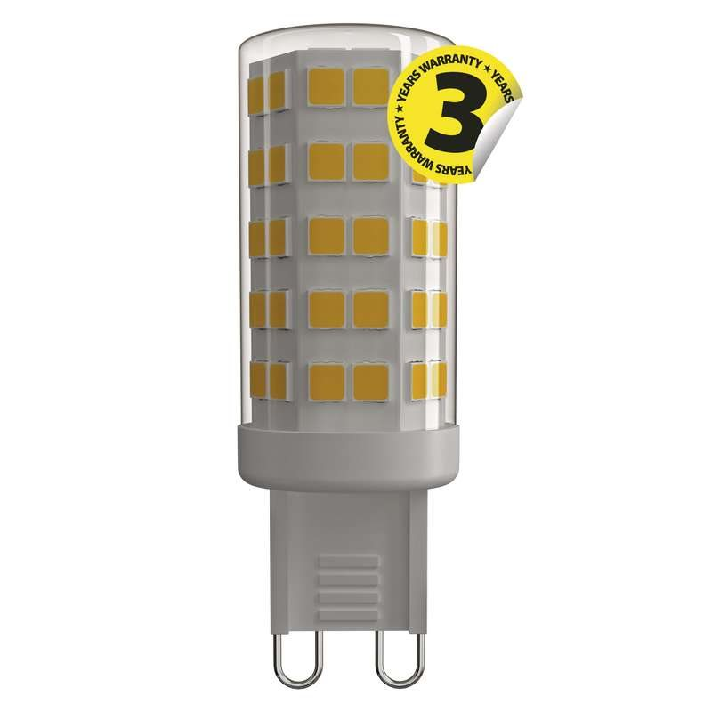 Emos LED žárovka JC, 4.5W/40W G9, NW neutrální bílá, 465 lm, Classic A++