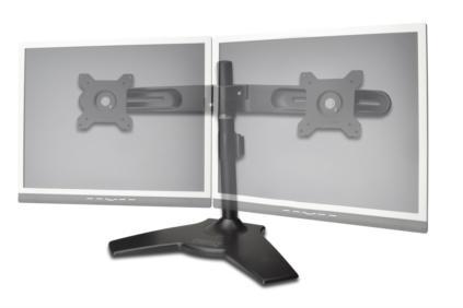 """Digitus stolní stojan pro dva monitory, černý, 15"""" - 24"""" TFT, maximální zatížení 30 kg"""